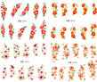 NYTT! 4 ARK Nageldekorationer / 3D Water Transfer Nail Art Stickers 033-036 Strömsund