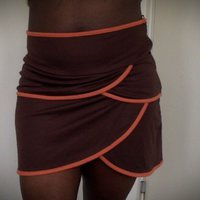 Orange brown skirt from Amisu