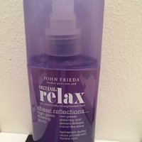 John Frieda relax high gloss finish spray
