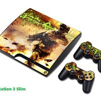 Call Of Duty - Modern Warfare. COOLT & DEKORATIVT VINYLSKINNS COVER TILL PlayStation 3 Konsol + Till 2 Handkontroller