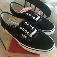 Vans K Authentic Black/True White