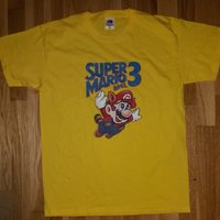 "Super Mario Bros. 3 T-shirt - NES - Storlek medium ""M"" - Nintendo - NY!"