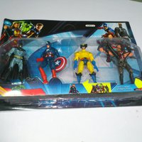 AVENGERS BATMAN, BLACK MAN, CAPTIAN AMERICAN, & X-MEN 4 ST FiGURER 17 CM