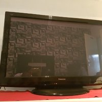 Svart Panasonic TV