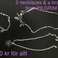 Set of 2 necklaces and one bracelet from Pilgrim