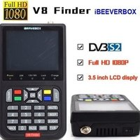 IBRAVEBOX V8 Finder Digital Satellite TV Signal Finder Meter Freesat HD DVB-S2 FTA LNB Signal Meter Pointer Satellite TV Receiver Tool with 3.5' LCD