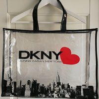 DKNY Donna Karan strandväska shoppingbag shoppingävksa
