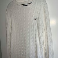 GANT Cable Crew Neck Pullover CREAM (Herr)