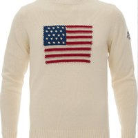 GANT Crispy Cotton Flag Crew Sweater Cream
