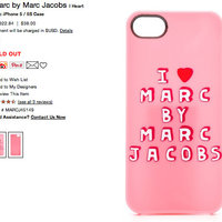 Marc Jacobs Iphone 5/5s skal.