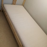 Bed, Mattress and Bedside table from Ikea