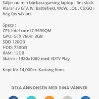 Gaming Asus laptop G75 VW