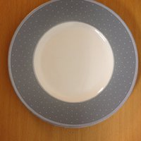fem st tallrik marke,, 222 Fifth,,Dots White Relief Fine china