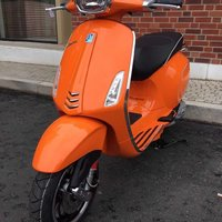 2017 Piaggio Vespa Sprint 125cc Scooter Orange Euro 4 ABS