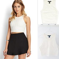 Forever 21 Retro Lace Crop Top