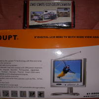 CMD/CMOS/CCD COLOR CAMERA och 8´´ LCD mini TV
