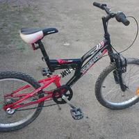 "Cykel fulldämpad Junior 20"" mountainbike"