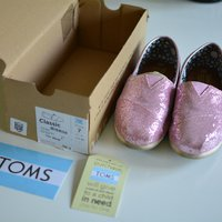 Toms shoes rosa glitter