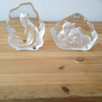 2 st glasfigurer av Mats Jonasson