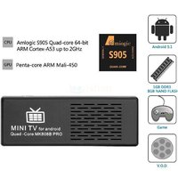 4K TV Dongle Amlogic 64Bit Quad Core Android 5.1 Mini PC 1G/8G