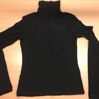VERSACE SPORT SVART POLOTRÖJA TURTLENECK MEDUSA LOGGO SMALL MEDIUM