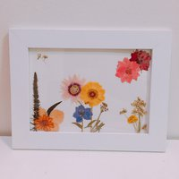 Personalized dried flowers photo frame (personifierat blommor fotoram)