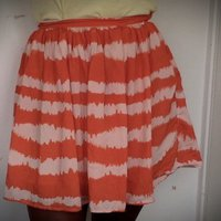 High wasted orange skirt from forever 21