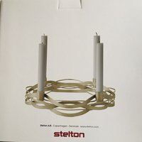 Ny! Stelton tangle advent candleholder brass