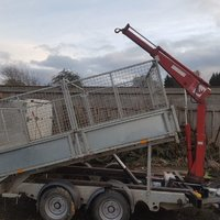 2005 Ifor Williams tippvagn med Hiab