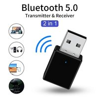 Bluetooth 5.0 Receiver Transmitter 2 In 1 RX TX USB Car Kit Stereo Music 3.5mm AUX Audio Wireless Handsfree Adapter Headphone
