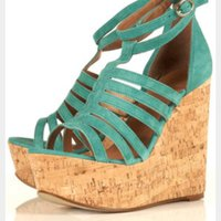 Topshop wizard green wedges