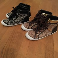 COACH sneakers high top ÄKTA strl: 38.5