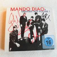 Mando Diao. Greatest Hits Vol 1. Cd+Dvd. Signerat Omslag.