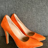 Jimmy Choo pumps - orange mocka - NYA! - Fri frakt inom Sverige