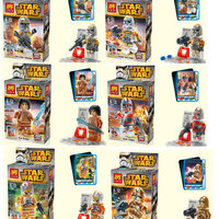 Star Wars, ej LEGO, transparenta minifigurer.