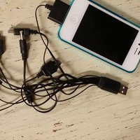 USB Universal Mobil laddar kabell 10 in 1 Multi Cellphone Charger
