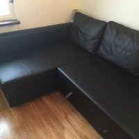 Ikea black Sofa bed