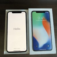 Apple iPhone X, Silver (256gb) (Unlocked)  sealed in box