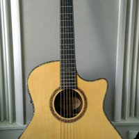 Crafter GLXE-4000/RS/N, Acoustic guitar, Solid German SP