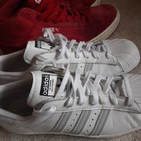 Adidas Superstar reflex och Puma red mid leather