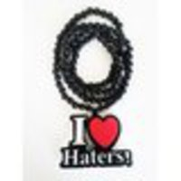 I Love Haters Beads Necklace