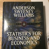 Statistics for business and economics (Anderson m fl) 1999