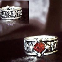 Holy Blood Rune Band English Pewter Ring by Alchemy Gothic
