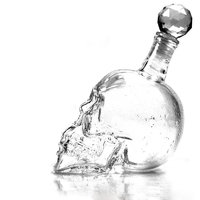Crystal head flaska med 2st shotglas