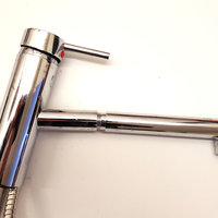 Chrome plated tap with extendable hose