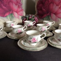 Staffordshire fine bone china crown kaffeservis/ 27 delar