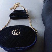 Gucci belt bag marmont mörkblå