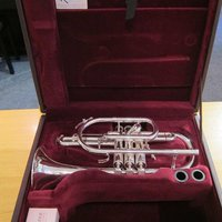 Besson Sovereign BE928-2 Cornet, B-flat - silver-platta