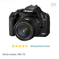 "Canon Eos 500D SLR m18-55 IS  15.1MP,3"" LCD, videoinspelning i full HD"