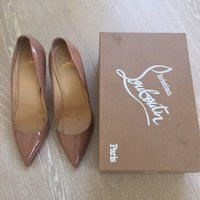 Christian Louboutin pigalle 85 patent calf Nude stl 40